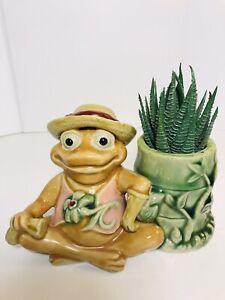 Vintage RARE Small Frog planter