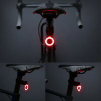 Bike USB Rechargeable LED Rear Light Warning Tail Lamp Outdoor Cycling Supply