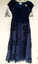 Amy Byer Girls Party Dress in Navy Blue with Floral Skirt Pattern - Size 12