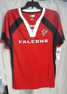 "NFL Atlanta Falcons Majestic ""Draft Me"" Fashion Top - Women's Shirt size L NWT"