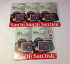 5x SanDisk Ultra CompactFlash 8 GB Memory Card 30MB/s SDCFH-008G-AW46