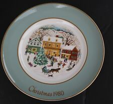 "1980 Avon Decorative Collectable Christmas Plate ""Country Christmas"""