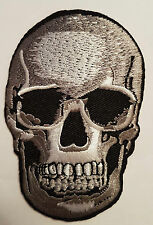 LARGE SKULL Iron Sew On Patch Emo Goth Punk Rock Biker Rockabilly Iron on Patch