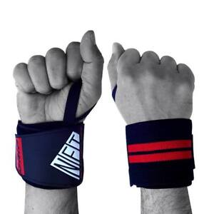 NFT Weight Lifting Wrist Wraps Hand Support Gym Straps Elastic Cotton Brace UK