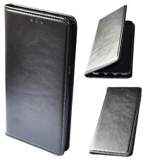 Etui Housse Folio pour HUAWEI P20 Pro Noir coque cuir Pu porte carte antichoc