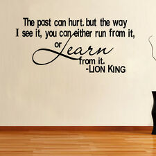 THE PAST CAN HURT Quote Vinyl Wall Sticker Inspirational Saying Home Decal