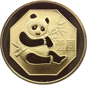 MGM *China PANDA 1 Yuan 1983 Polierte Platte, Auflage: 30.000 Ex.