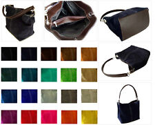 Ladies Italian Real Suede Leather Small Handbag Shoulder Bag Italy Evening Bag