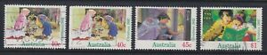 Australia Scott 1303-1305 Used 1992 Christmas Set of 4 Including Booklet Stamp