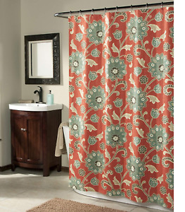 FLOWER  fabric Shower Curtain