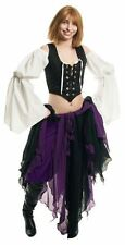 RENAISSANCE COSTUME DRESS-UP HALLOWEEN WITCH MEDIEVAL PIRATE PETAL SKIRT #Ps18