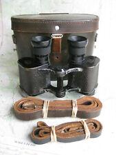 Rare WWII German Busch 6x24 binoculars WA (~8°+ FOV) with reticle & case