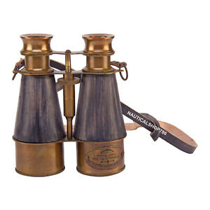 Antique Victorian Spyglass Binocular Grey Leather Birthday Gifting Item