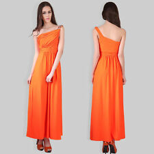 Party Patternless Long Synthetic Dresses for Women