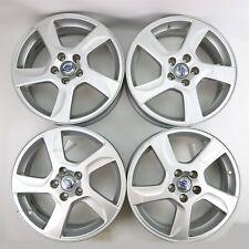 "4 Volvo 17""x7 BALDER Alloy Rims Wheels 30756703 for S60 V60 S80 XC70 XC60"
