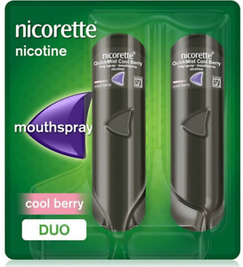 Nicorette QuickMist 1mg/spray Mouthspray - CoolBerry flavour- Duo Pack - 2 x 150