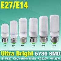 EFFICACE 220V AMPOULE MAÏS LED CHAUD/COOL BLANC E27 E14 LUMIÈRES 25/15/7W LAMPE