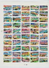 Greetings from America Sheet of 50 34 cent stamps USA 2002, Scott 3561-3610