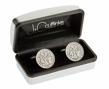 GREAT MENS 60th BIRTHDAY GIFT PRESENT IN 2017 VINTAGE 1957 SIXPENCE CUFFLINKS