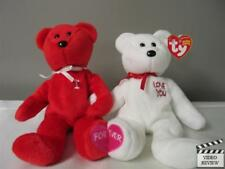 I Love You Forever! Couple Partner Join Red White Ty Beanie Babies; New w/ Tag
