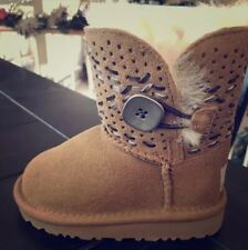 UGG BAILEY BUTTON TEHUANO CHESTNUT GIRLS BOOTS Size 6 Toddler NEW Retail $175