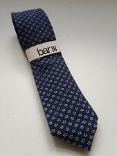 Bar III Necktie Easton Neat Blue With White  Flowers.
