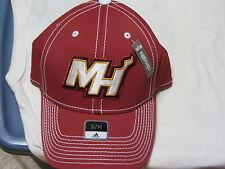 "MIAMI HEAT ""ADIDAS"" FLEX FIT HAT(SM/MED ) NWT $27 RED W/CLASSIC LOGO"
