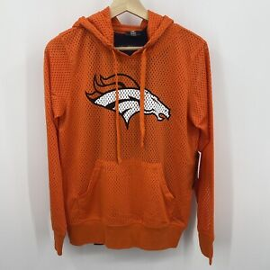 Denver Broncos Womens Size Small Mesh Pullover Hooded Sweatshirt with Tank Top