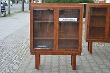 Bauhaus Glas Vitrine Bücherschrank Nussbaum Holz um 1900 Showcase Wood 19. cent