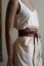 "Plus Size VIKTOR SABO Handmade OBI KAFETA Leather For waistline Up To 39""/99 cm"
