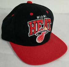 Miami Heat NBA Hardwood classics Baseball Cap Red / Black. Adult One Size