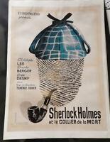 """Affiche 50x70cm """"Sherlock Holmes le Collier de la Mort""""  non pliée , non toilée"""