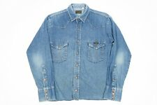 Vintage WRANGLER Brass Snap Popper Shirt | Mens S | Retro 80s Western