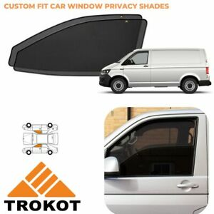 VW Transporter T4 Bespoke Magnetic Front Window Privacy Shades Sun Blinds SET
