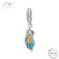 Feather Charm Genuine 925 Sterling Silver for Charm Bracelet 💞