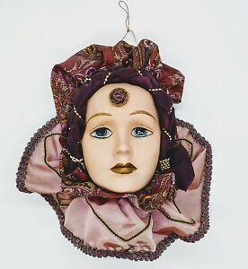Vintage Porcelain Mardi Gras Mask Masquerade Venetian Wall Decor