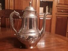 Coffee/Tea Pot Silverplate Metal Footed Vintage- Unmarked
