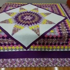 king size machine pieced and quilted  Patchwork quilt / #NJ-72Q
