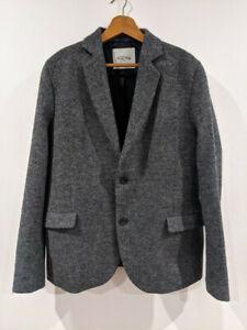 Mens Grey Pure Wool Sports Jacket