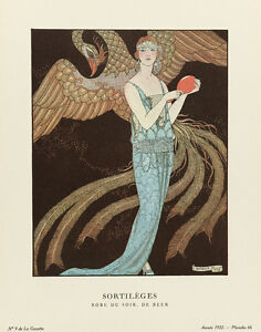 Spells - Evening Gown La Gazette du Bon Ton 1922 Art Print