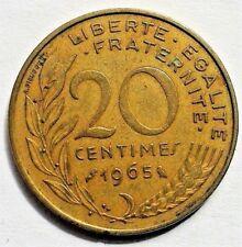 1965 France - 20 Centimes Marianne... utilisé, mais bon.