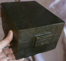 Coffret Boîte tôle vintage de marque FLAMBO modèle ancien - Déco Indus Loft