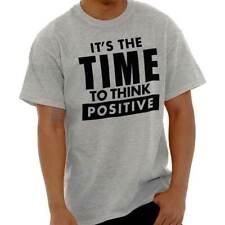 Time To Think Positive Inspiring Motivating Adult Short Sleeve Crewneck Tee