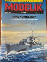 "ORIGINAL PAPER-CARD MODEL KIT - HMS ""ONSLOW"""