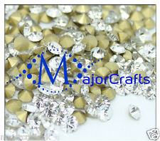 60pcs Crystal Clear ss29 6mm Point Back Glass Chatons Jewellery Rhinestones