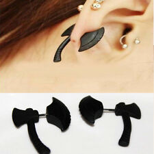 Ax Hatchet Impalement Men Women Stud Earring 1 Pcs Hot Punk Cool Stereoscopic