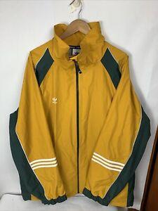 NWT Adidas 10K DNA Jacket Legacy Gold/Mineral Green/White Mens Size M FJ7489