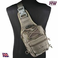 AIRSOFT 1000D UTILITY MOLLE TACTICAL 3 WAYS SHOULDER BAG POUCH BACKPACK GREEN OD