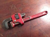 """Collectable Vintage 10"""" Drop Forged Red Adjustable Spanner"""