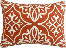 Threshold Decorative Scroll Embroidered Medallion Toss Pillow Coral Orange 14x20